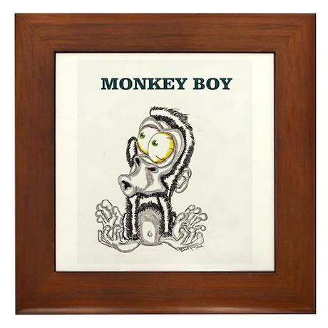 Monkey Boy 2 Framed Tile
