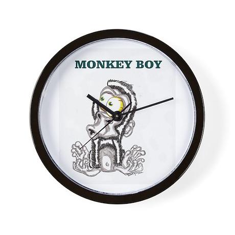 Monkey Boy 2 Wall Clock