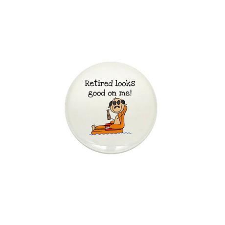 Beach Retiree Mini Button (10 pack)
