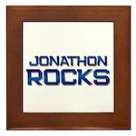 jonathon rocks Framed Tile