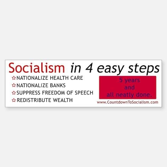 ANTI-Socialism Bumper Car Car Sticker