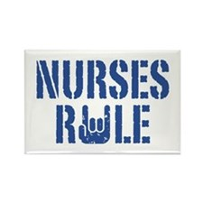 Nurses Rule Rectangle Magnet