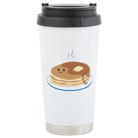 Breakfast Time Stainless Steel Travel Mug