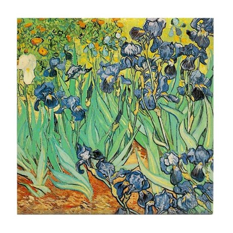 Van Gogh Ceramic Art Tile Coaster - Irises