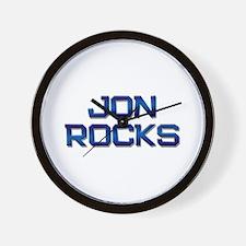 jon rocks Wall Clock