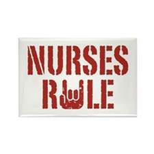 Nurses Rule Rectangle Magnet