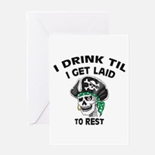 Drinking Irish Ass Pirate: Greeting Card