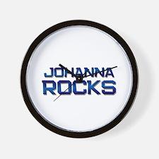 johanna rocks Wall Clock
