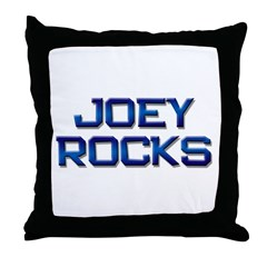 joey rocks Throw Pillow
