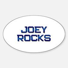 joey rocks Oval Decal