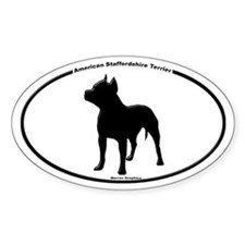 Am Staff!! Oval Decal