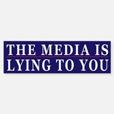 Controlled Mass Media Humor Bumper Bumper Sticker