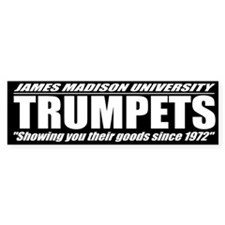 JMU Trumpets Bumper Sticker (Black)