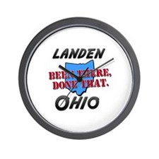 landen ohio - been there, done that Wall Clock