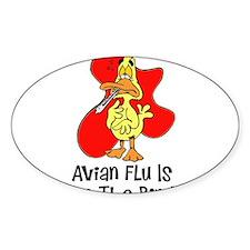 Avian Flu Oval Decal