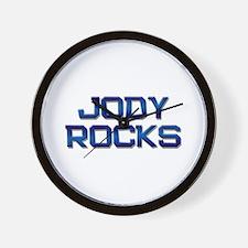 jody rocks Wall Clock