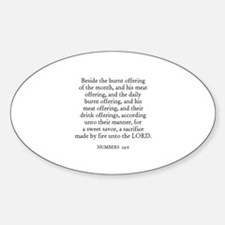 NUMBERS 29:6 Oval Decal