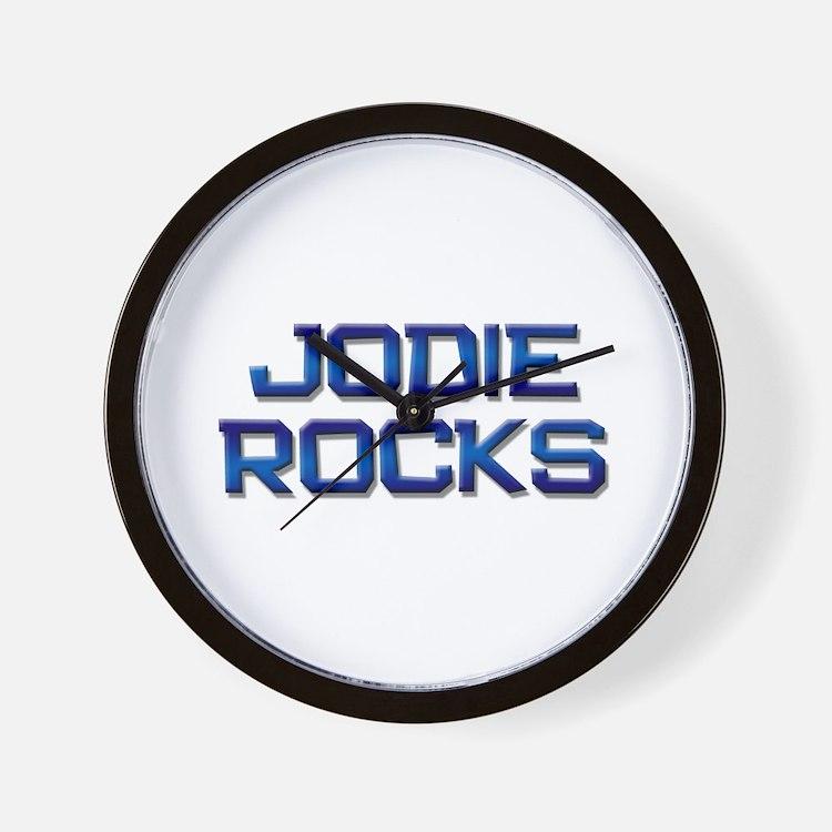 jodie rocks Wall Clock