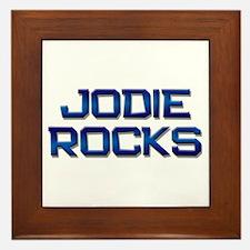 jodie rocks Framed Tile