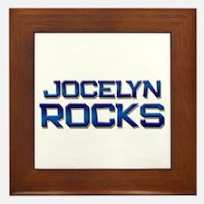 jocelyn rocks Framed Tile