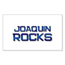 joaquin rocks Rectangle Decal