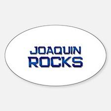 joaquin rocks Oval Decal
