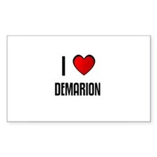 I LOVE DEMARION Rectangle Decal