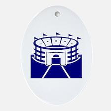 Blue Sports Stadium Oval Ornament