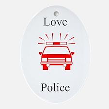 Love Police Oval Ornament