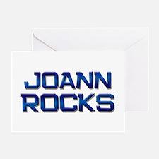 joann rocks Greeting Card