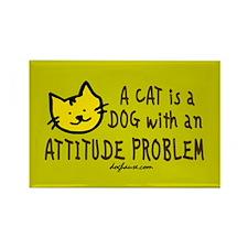 Cat Attitude Rectangle Magnet
