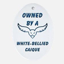 White-bellied Caique Oval Ornament