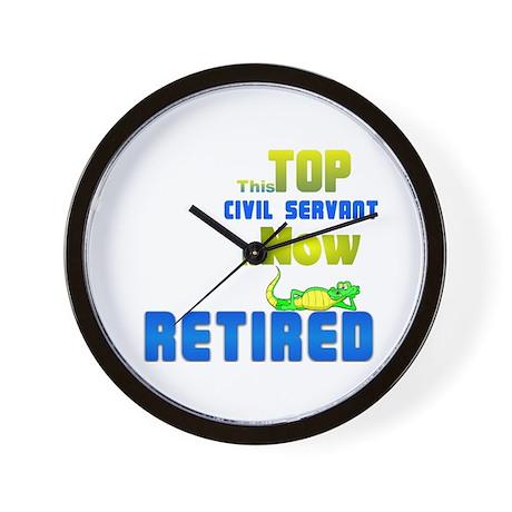 Retired Top Civil Servant 1&2 Wall Clock