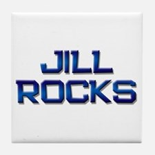 jill rocks Tile Coaster