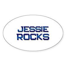 jessie rocks Oval Decal
