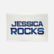 jessica rocks Rectangle Magnet