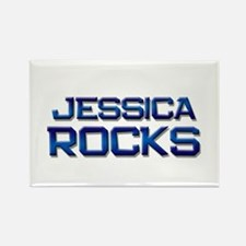 jessica rocks Rectangle Magnet