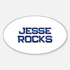 jesse rocks Oval Decal