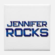 jennifer rocks Tile Coaster
