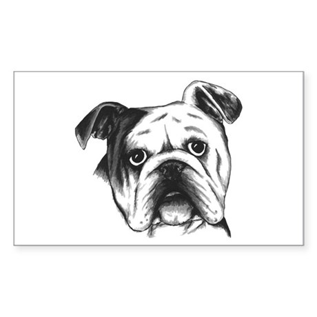 English Bulldog Rectangle Sticker