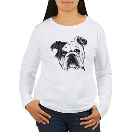 English bulldog women 39 s long sleeve t shirt english T shirts for english bulldogs