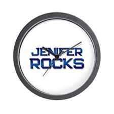 jenifer rocks Wall Clock