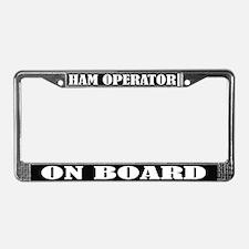 Black Ham Radio License Plate Frame