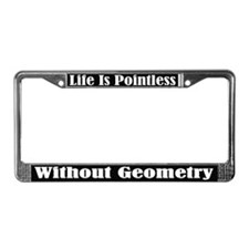 Funny Math Geometry License Frame