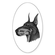 Doberman Pinscher Oval Decal