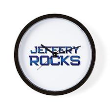 jeffery rocks Wall Clock