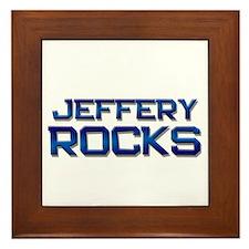 jeffery rocks Framed Tile