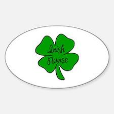 Irish Nurse Oval Decal
