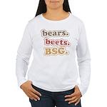 bears. beets. BSG. Women's Long Sleeve T-Shirt