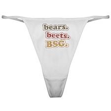 bears. beets. BSG. Classic Thong